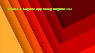 create a new angular 2 app with angular cli