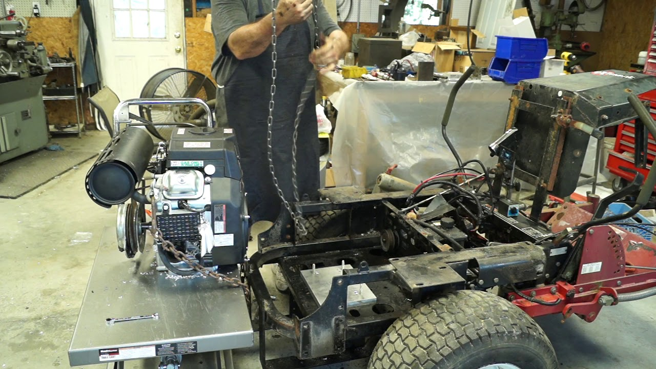 hight resolution of exmark lazer z motor swap 2 installing the predator 670