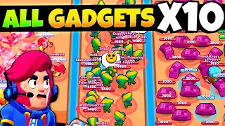 EVERY Brawlers Gadget X10 🤯 (satisfying)