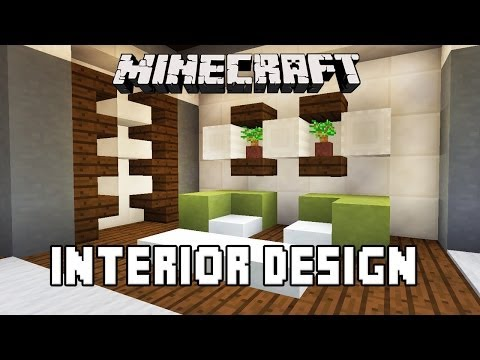 Minecraft Tutorial:  Bathroom And Furniture Design Ideas   (Modern House Build Ep. 27)