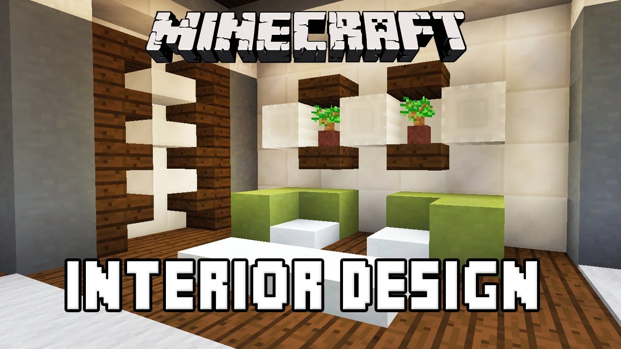 Minecraft tutorial bathroom and furniture design ideas for Minecraft house interior living room