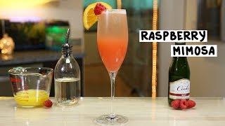 Raspberry Mimosa - Tipsy Bartender