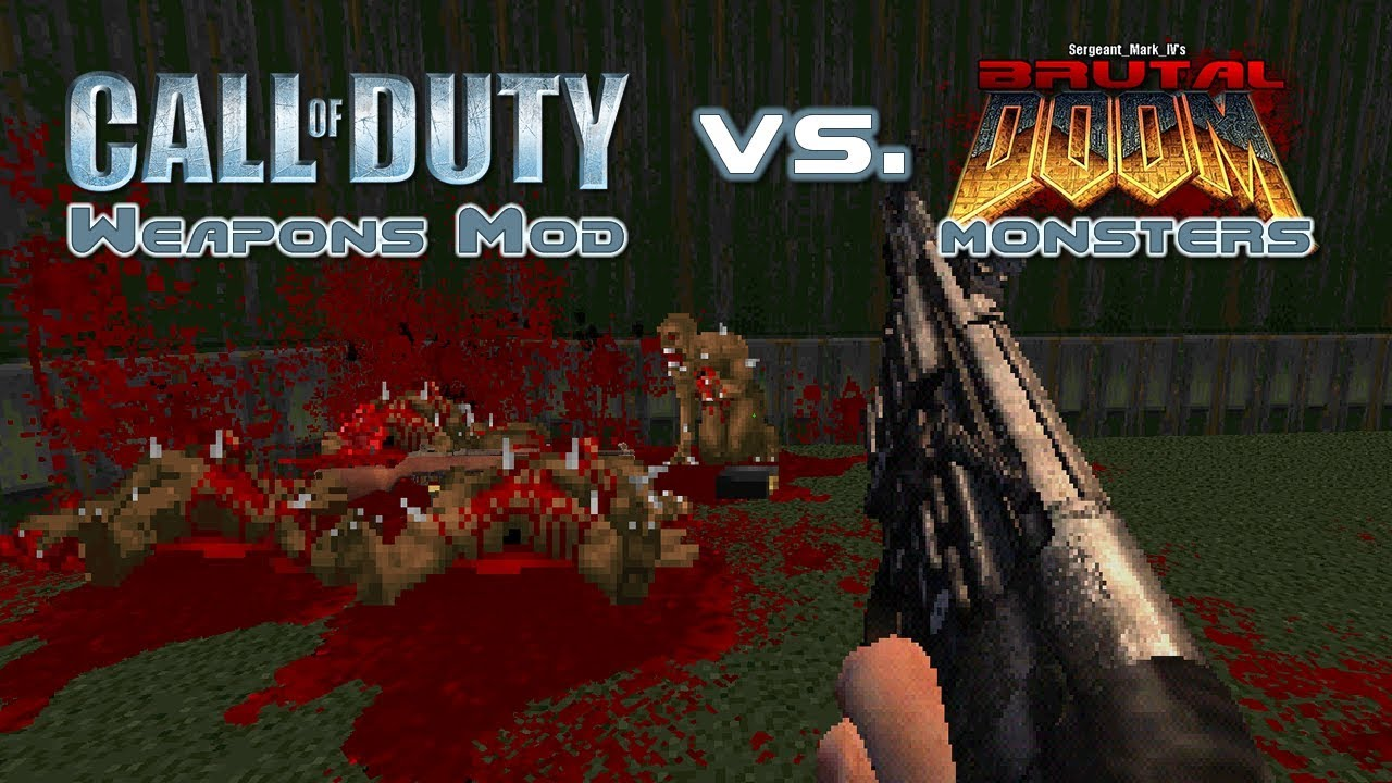 Call of Duty vs  Brutal Doom Monsters [Combined WADs]