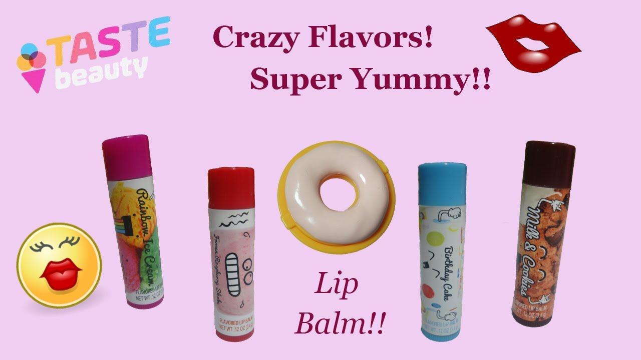 Yummy Flavored Lip Balms Krispy Kreme Donut Rainbow Ice Cream Milk And Cookies More