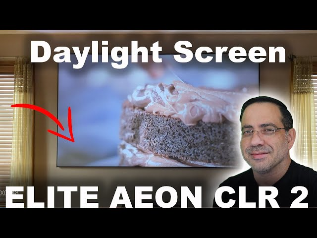 ELITE SCREEN AEON CLR2 Projector Screen AMAZING Image Even in Daylight