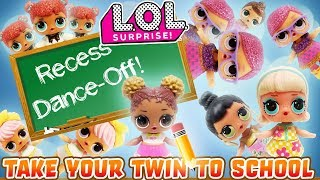 LOL Surprise Dolls Take Your Twin to School Day! Learn Math, and Dance Battle at Recess!