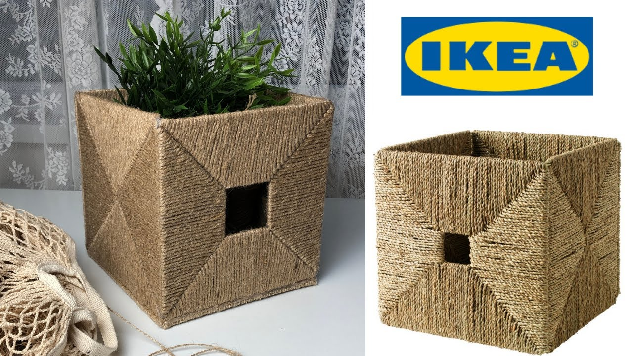 📦 Storage Box | IKEA KNIPSA | Jute craft  (DIY) 📦