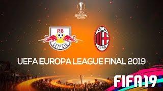 A GRANDE FINAL DA UEFA EUROPA LEAGUE! MILAN X LEIPZIG!   FIFA 19 MODO CARREIRA #31