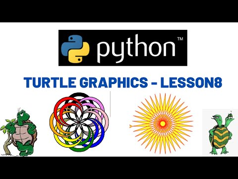 Python Turtle graphics Tutorial - Lesson 8