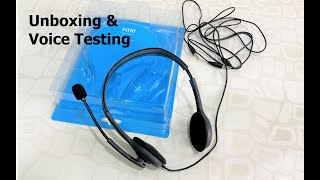 Budget Logitech H110 Headphone with Mic Unboxing & Testing