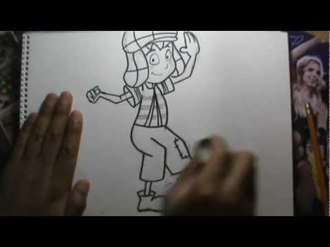 Dibujando a EL CHAVO DEL 8 Animado a lpiz en vivo  YouTube