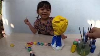 Đồ chơi trẻ em _ Bé tập tô tường hình Công Chúa ELSA _ Bim Bim Channel