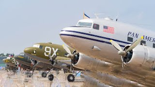 DC 3 Mass Take Off at Faßberg (70 Years Berlin Airlift)