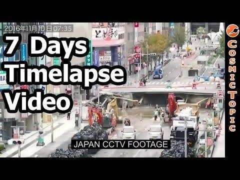 Japan Fukuoka Sinkhole Road Repair In 7 Days #Timelapse #Fukuoka #Japan #Sinkhole #RoadRepair