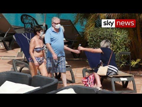 Coronavirus: Guests in pool at Tenerife hotel despite quarantine