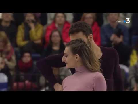 Gabriella PAPADAKIS & Guillaume CIZERON Free Program. 2019 European, Champs. FRANCE TV