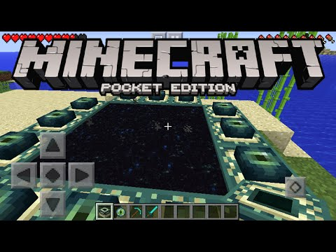 Minecraft Pocket Edition - How To Make An END PORTAL (Minecraft PE)