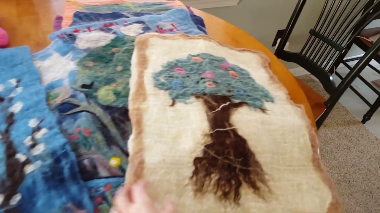 efe3564facf Creating Wet Felted Designs - YouTube