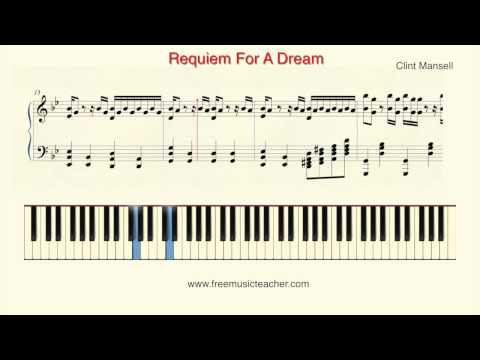 """How To Play Piano: Clint Mansell """"Requiem For A Dream"""" Piano Tutorial by Ramin Yousefi"""