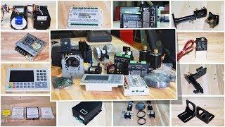 Обзор комплектующих для сборки лазерного CO₂ станка ЧПУ резки и гравировки неметаллов