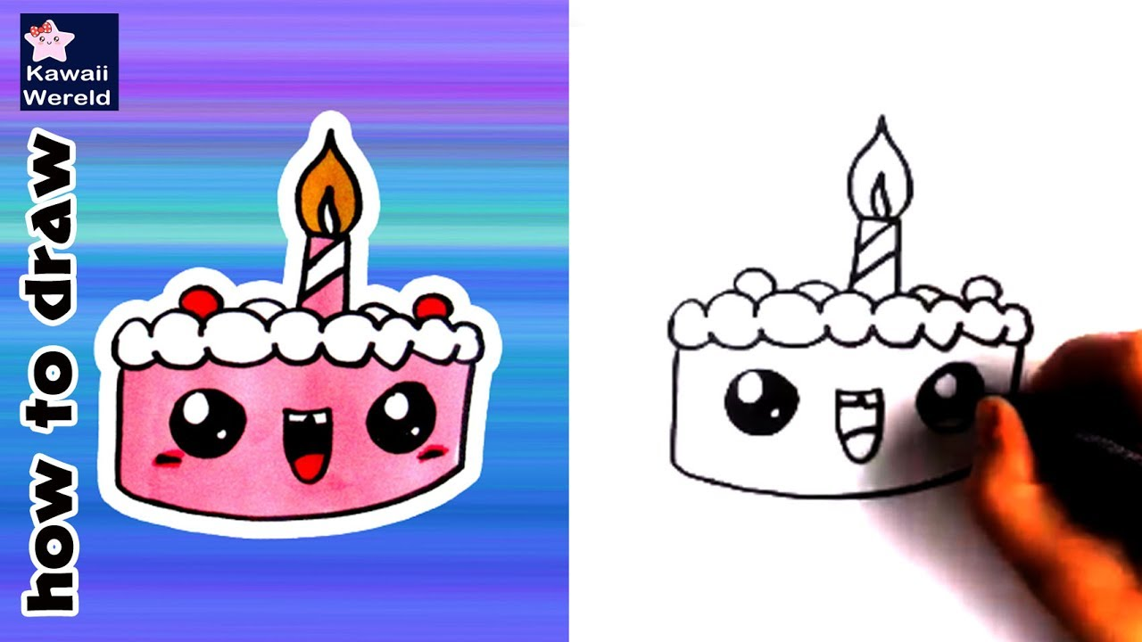 Happy Birthday Cake Drawing
