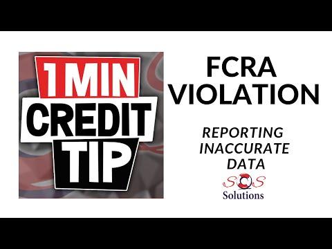 FCRA Violation-reporting Inaccurate Data