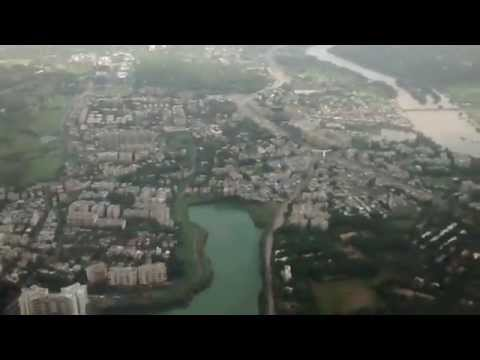 Massive Turbulence while Take-off from Pune (India) Airport | Bad Weather Take-off