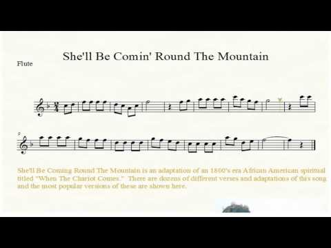 She'll Be Coming Round The Mountain Flute Sheet Music