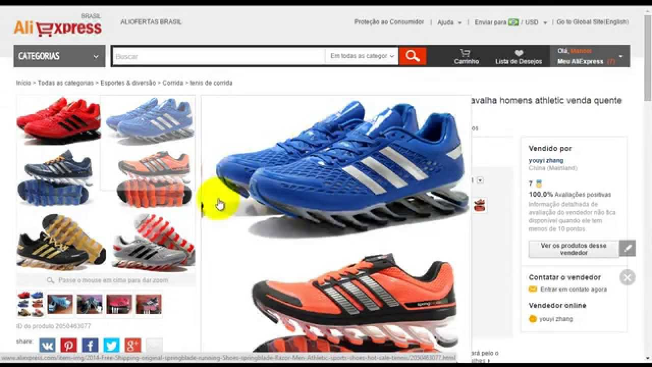 3184eb22b6c Como Comprar Tênis Adidas SpringBlade Barato - YouTube