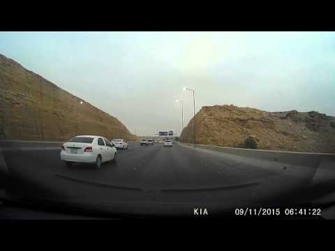 Driving in Riyadh early morning