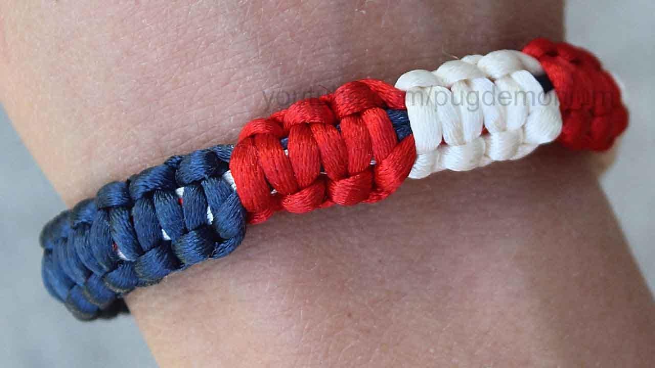 c4a7aed2dd353 Tutorial: 4th of July Cobra Stitch Bracelet