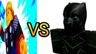 Thor vs Pantera Negra #1 roblox heroes