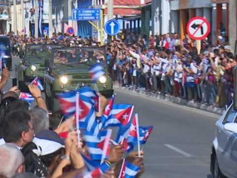 Caravana con los restos de Fidel, San José de las Lajas, Cuba.