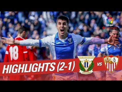 Resumen de CD Leganés vs Sevilla FC (2-1)