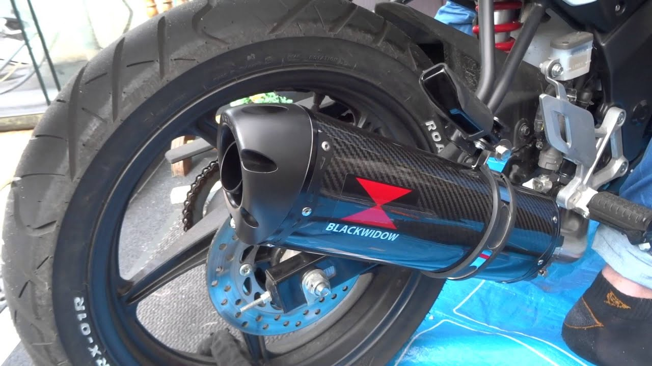 Upgrading My Cbr125r Black Widow Exhaust