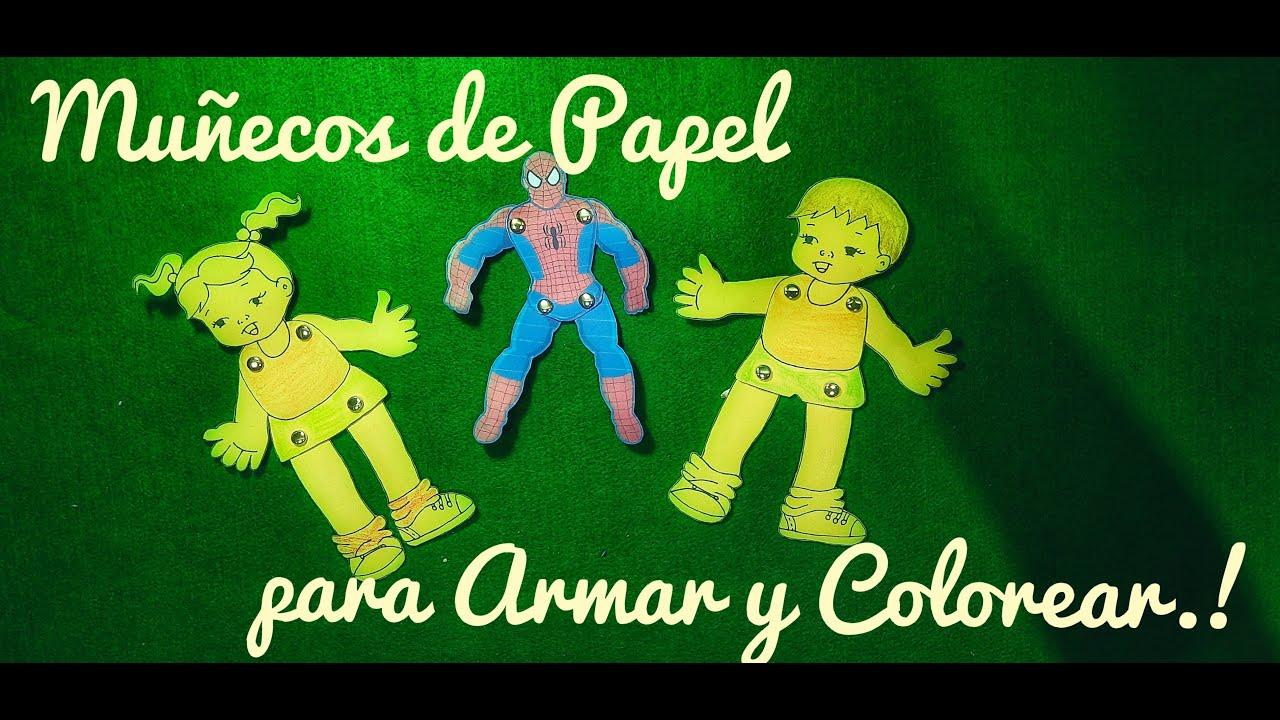 🎨.. Muñecos de Papel para Armar y Colorear..!!