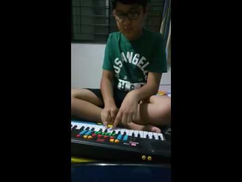 Savya Playing Key Board - Janam Janam from...
