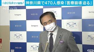 神奈川県で470人感染 「医療崩壊迫る」(2021年1月1日) - YouTube