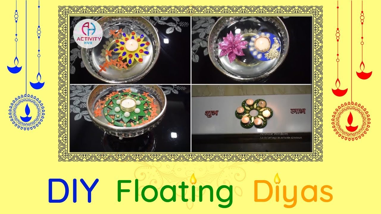 #DIY Floating Diyas For Festivals || #diy Home Decoration