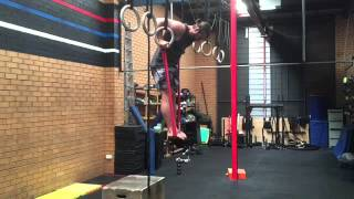 Strict Ring Muscle Up Standing in Bands