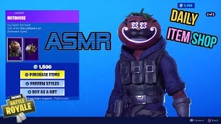 ASMR | Fortnite NEW Hothouse and Gutbomb Skins Set! Item Shop Update 🎮🎧Relaxing Whispering😴💤