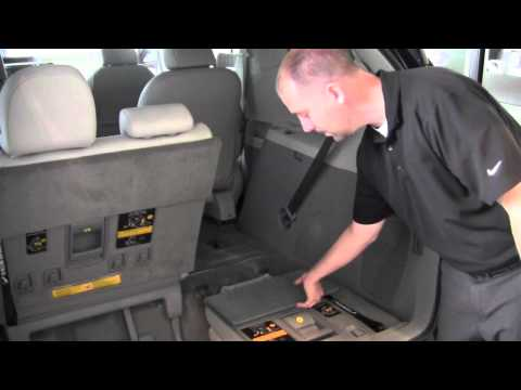 2011 Toyota Sienna Third Row Seat Operation How To By