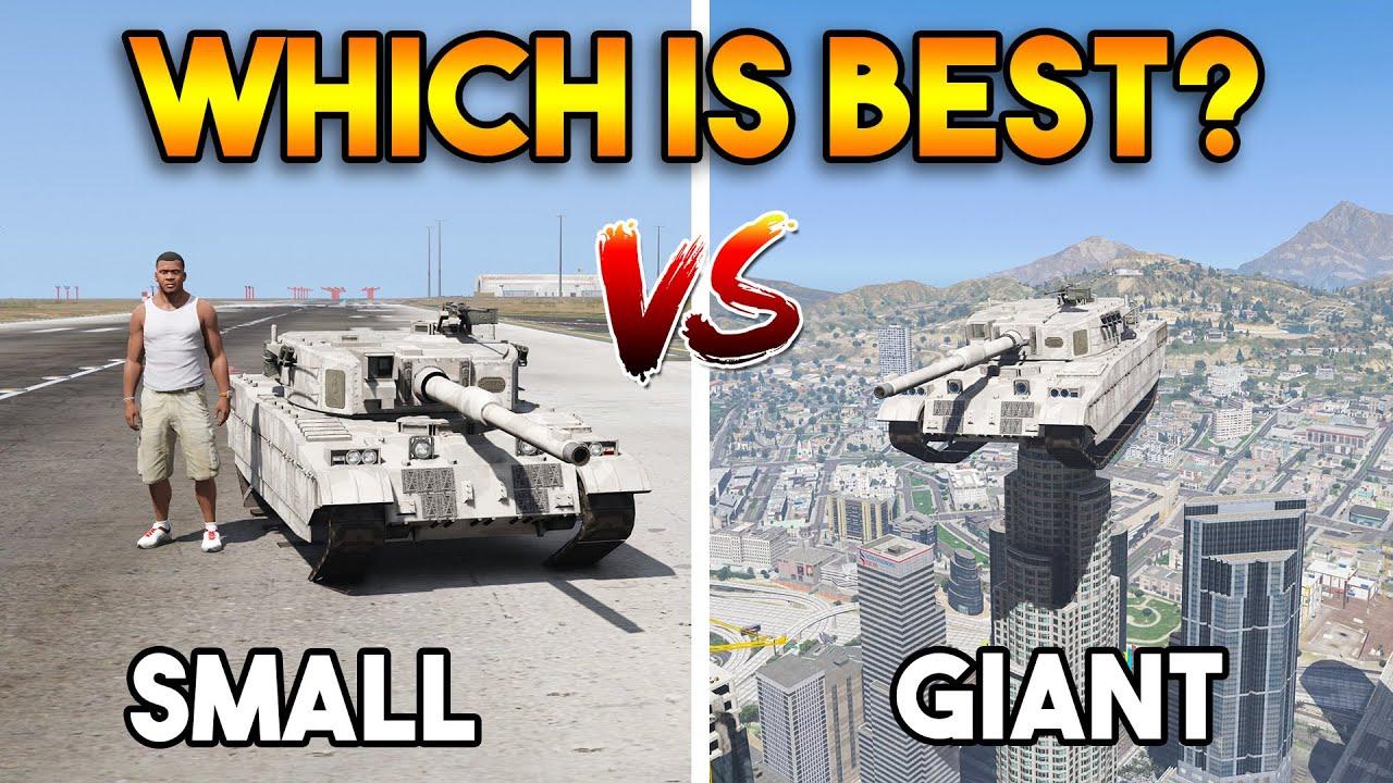 GTA 5 ONLINE : SMALLEST TANK VS BIGGEST TANK (WHICH IS BEST?)