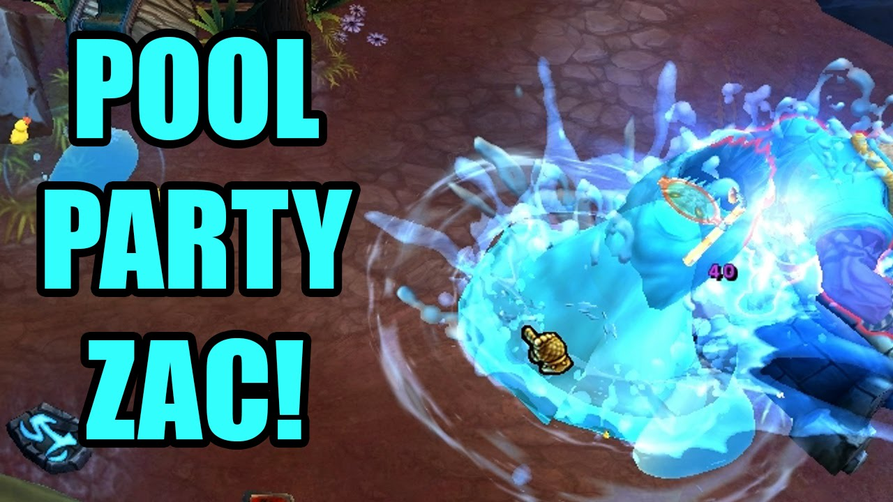 Pool Party Zac Skin Spotlight Gameplay Lol League Of Legends
