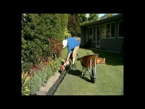Garden edging concrete diy or professional youtube for Cheap diy garden edging