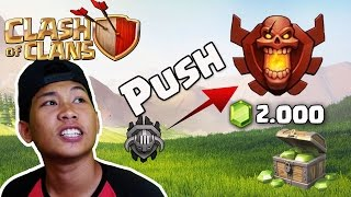 Clash Of Clans - Push Trophy ke Champion Sekaligus Nyari Gems | COC INDONESIA