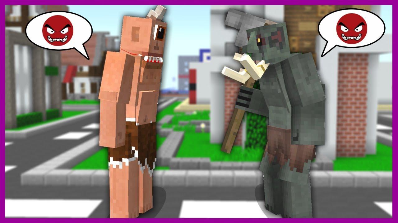 TEPEGÖZ VE HUYSUZ KAVGA ETTİ! 😱 - Minecraft