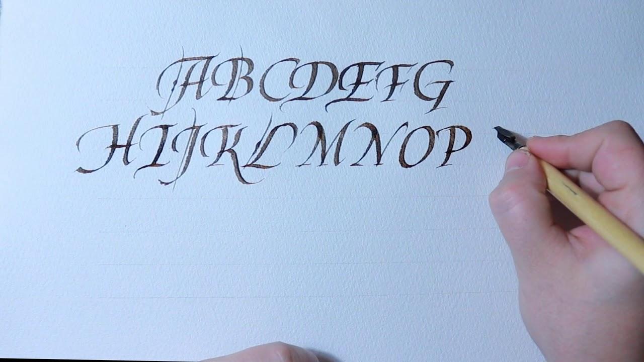Italic capitals calligraphy alphabet youtube