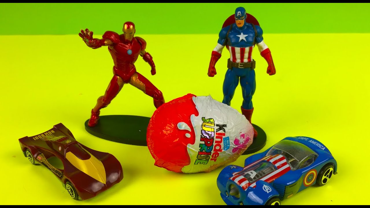 Marvel Avengers Assemble Car Toys and a Chocolate Kinder ...