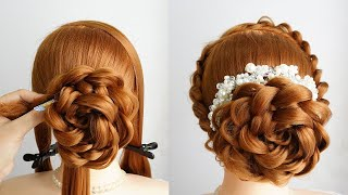 Low Messy Bun Hair Tutorial Easy Hairstyle With Braids Simple Updo Hairstyle For Wedding